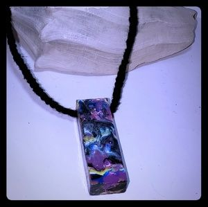 Galaxy Handpainted Wearable Art Necklace